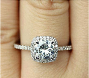 Tripmark 925 Sterling Silver Zircon Stone Engagement Wedding Band Ring Promise Rings CZ Engagement Ring for Women £¨7£