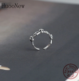 100% 925 Silver Punk Rock Steampunk Adjustable Antique Finger Toe Open Rings For Women Bridal Wedding Wholesale Joyas 2020 NEW