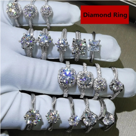 CC Trendy Jewelry S925 Rings For Women Cubic Zirconia Charms Bridal Wedding Engagement White Gold Color Ring Drop Shipping