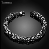 Silver Color Twisted Men Bracelets Bangles 316L Stainless Steel Wrist Band Hand Chain Male Accessory Hip Hop Party Rock Jewelry