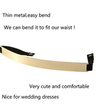 HaoPiDai Gold Belts For women Dresses Fashion Belts For women Waist Belt Metal Palte Elastic Chain