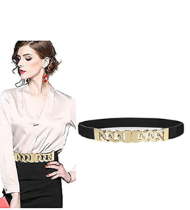 Stretch Belts For Women Luxury,VITORIA'S GIFT Women Skinny Dress Belt For Ladies Fashion Elastic Waist Band Belts Buckle