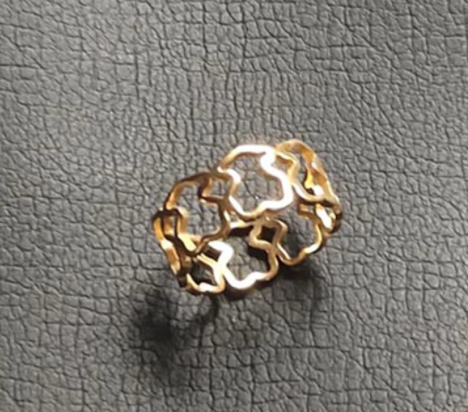 Gold Color Ring 1PCS Stainless Steel BEAR jewelry Fashion Jewelry Top-grade Plated Factory Price wholesale