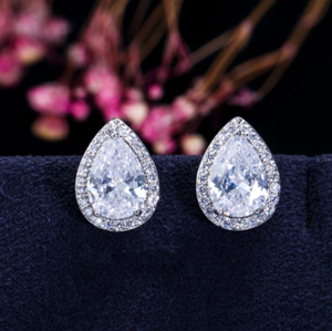 2020 Fashion Luxury 925 Sterling Silver Zircon Stud Earing Earrings for women christmas gift jewelry Best Black Friday Deal Z5