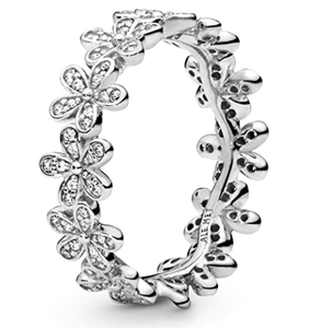 Pandora Jewelry Daisy Flower Cubic Zirconia Ring in Sterling Silver