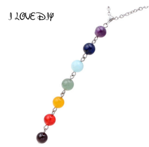 7 Chakra Gem Stone Beads Pendant Necklace Women Yoga Reiki Healing Balancing Maxi Chakra Necklaces Bijoux Femme Jewelry 2020 New