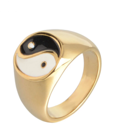 Wholesale Jewelry Taoist Bagua Yin Yang Tai Chi Men's Ring chinese style rings