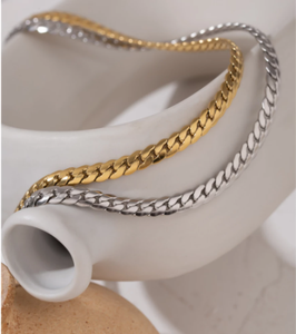 Yhpup 2020 Statement Snake Chain Choker Necklace Stainless Steel Metal Texture Collar Necklace Jewelry бижутерия для женщин New
