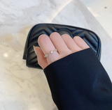 2020 South Korea New Fashion Open Ring Women Light Luxury Fashion Trend Simple Small Circle Index Finger Ring
