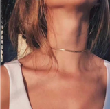 2020 High Quality Clavicle Blade Statement Women Gold Silver Color Stainless Steel Snake Choker Necklace Chain Jewelry