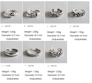 F.I.N.S 925 Sterling Silver Woman Fashion Rings 2019 Knuckle Ring Multi Styles Adjustable Rings Toe Ring Beach Foot Jewelry
