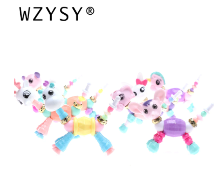 New cute children Fairy animal change Bracelet boys and girls puzzle splicing DIY Bracelets exquisite jewelry small gift bangles