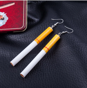Fashion woman Earrings wholesale Cigarette butts earrings restoring ancient ways Gout contracted girl dangle earring for women