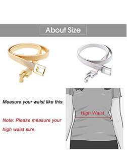 Tanpie Skinny Waist Belt of Women Elastic Metal Stretch Chain Belt Gold and Silver