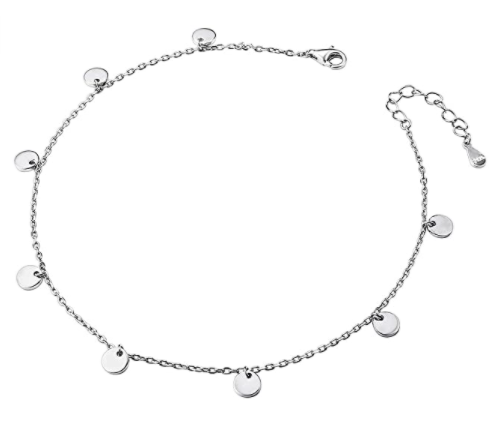 Anklet for Women Girl S925 Sterling Silver Adjustable Beach Style Foot Ankle Bracelet Jewelry