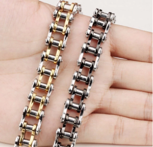 Stainless Steel Biker Chain Bracelet Mens Bracelet Link Chain Motorcycle Bicycle Style Bracelets Fashion Punk Bangles Jewelry