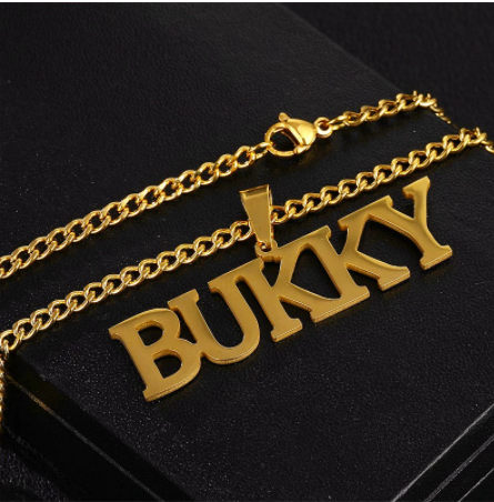Customized Name Necklaces Pendants for Men Women Personalized Custom Gold 3mm Cuban Chain Stainless Steel Nameplate Jewelry