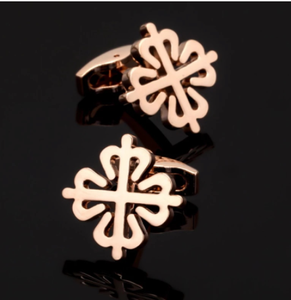 XK038 High quality men's wedding Cufflinks rose gold China knot Cufflinks factory direct