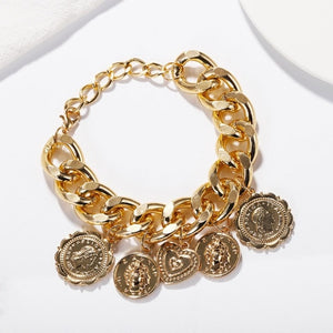 Best lady Vintage Gold ZA Chain Bracelets for Women Newest Fashion Jewelry Friendship Party Charm Bracelets Bangles Wholesale - Aptil Jewelery