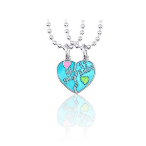 Best Friend Necklace Women Crystal Heart Tai Chi Crown Best Friends Forever Necklaces Pendants Friendship BFF Jewelry Collier - Aptil Jewelery