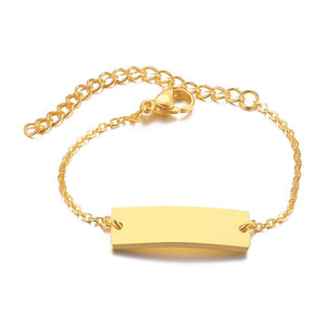 Vnox Personalize Custom Baby Name Bracelet Gold Tone Solid Stainless Steel Adjustable Bracelet New Born to Child Girls Boys Gift - Aptil-jewelery - jewelry website