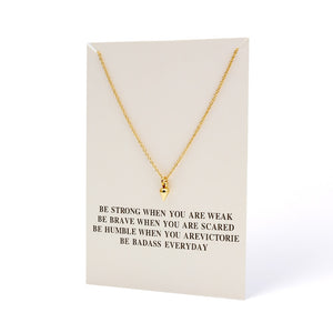 Wish Card Fashion Star Cricle Horseshoe Pendant Necklace For Women Gold Color Make a Wish Collier Bijoux Jewelry Gift EY1575 - Aptil Jewelery