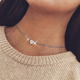 Multi Arrow choker Necklace Women Two Layers Necklaces Collares Fishbone Airplane Necklace Flat Chain Chocker On Neck Jewelry - Aptil Jewelery