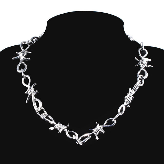 SG Punk Flame Necklaces Clavicle Hip Hop Flame Rock Chain Bracelets Oorbellen Collar Metal Lady Girl Choker Fashion Jewelry - Aptil Jewelery