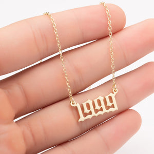 Women Personalized Necklace Special Date Year Number Necklace  girl1994 1995 1996 1997 1998 1999 from 1980 to 2002 chain Jewelry - Aptil Jewelery