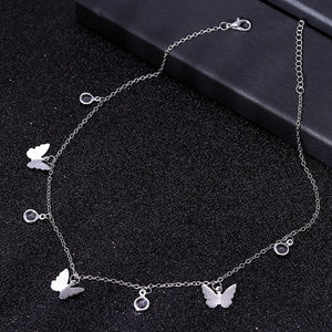 Small Animal Butterfly Stars Chain Necklaces for Women Hot Sale Gold Silver Color Clavicle Chain Necklaces Jewelry Accessories - Aptil Jewelery