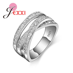 New Fashion Rings For Women Party Elegant Luxury Bridal Jewelry 925 Sterling Silver Wedding Engagement Ring High Quality - Aptil Jewelery