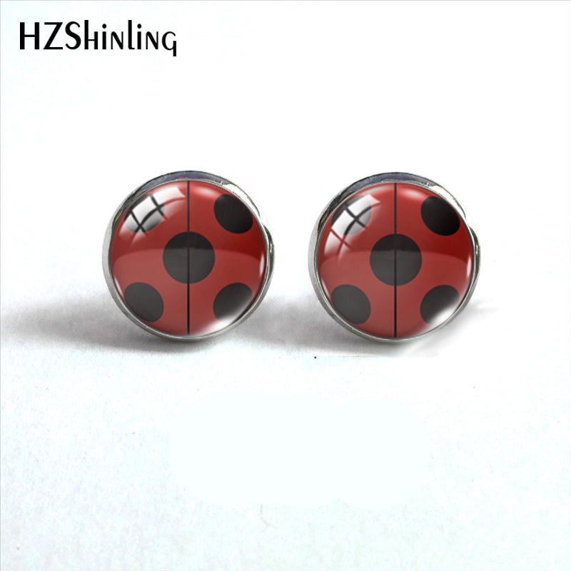 2019 New Arrival Ladybug Insect Stainless Steel Plated Earrings Jewelry Cute Ladybug Stud Earrings Hand Craft Jewelry Gifts - Aptil Jewelery