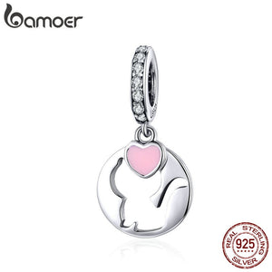 BAMOER Cat Jewelry 925 Sterling Silver Pendant Charm Openwork Kitty Pet Animal Charms for Women DIY Jewelry Accessories SCC1140 - Aptil Jewelery