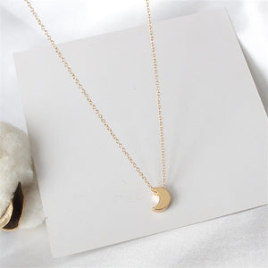 Ailodo Three Layers Moon Star Heart Pendant Necklace For Women Gold Color Statement Necklace Fashion Jewelry Girls Gift 19NOV72 - Aptil Jewelery