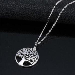 New Design Tree of Life Pendant Necklace Silver Color Female Charm Necklace Jewelry - Aptil-jewelery - jewelry website