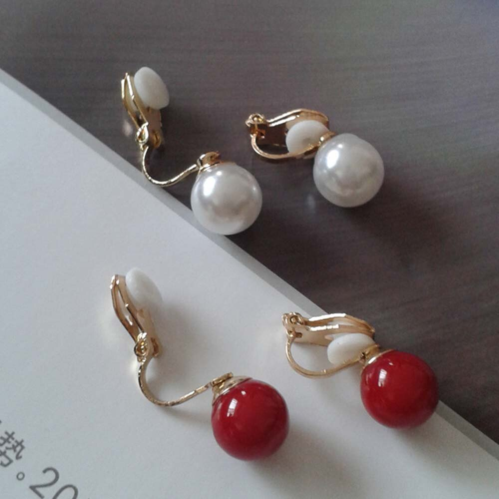 JIOFREE New Arrive Fashion Simple pearl clip on Earrings Non Piercing For Women Elegant Simulated Pearl Jewelry Brincos - Aptil Jewelery