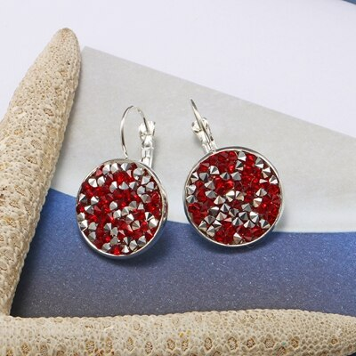 SUTEYI Fashion Earrings Jewelry Silver Plated Crystal Rhinestone Earring Charms Art Earings Wedding Party Women Best Jewelry - Aptil Jewelery