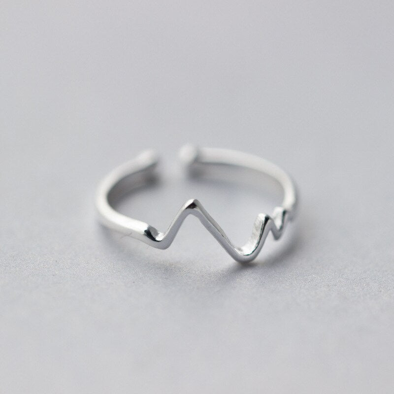 New 925 Sterling Silver simple leaf/cross ring female small fresh leaf rings adjustable forefinger fashion silver 925 jewelry - Aptil Jewelery