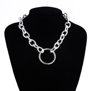 Gothic Chunky chain Choker Necklace 2020 Punk rock Statement Necklace Women goth Jewelry Vintage collier femme fashion jewelry - Aptil Jewelery