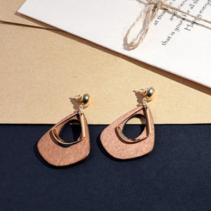 New Fashion Round Dangle Korean Drop Earrings for Women Geometric Round Heart Gold Earring 2019 Trend Wedding Jewelry - Aptil Jewelery