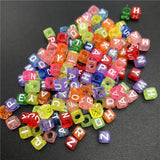 100pcs 6mm Mix Letter Beads Square Alphabet Beads Acrylic Beads DIY Jewelry Making For Bracelet Necklace Accessories - Aptil Jewelery