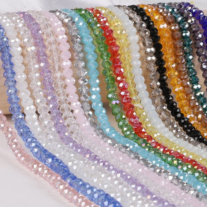 2 3 4 6 8mm about 70-195Pcs Crystal Beads AB multicolor Sapcer Glass Beads for Jewelry Making DIY Handmade Bracelet Wholesale - Aptil Jewelery