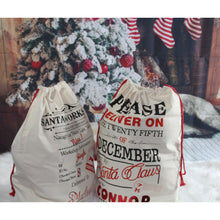 Load image into Gallery viewer, Personalized Santa sacks