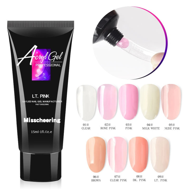 BuilderGel Powder Uv Led Alongamento Unha Poligel