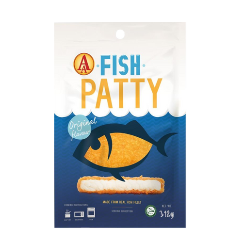 AA Fully Cooked Fish Patty 312gm/pkt (Halal) - SGFoodMart.com SG Food Mart