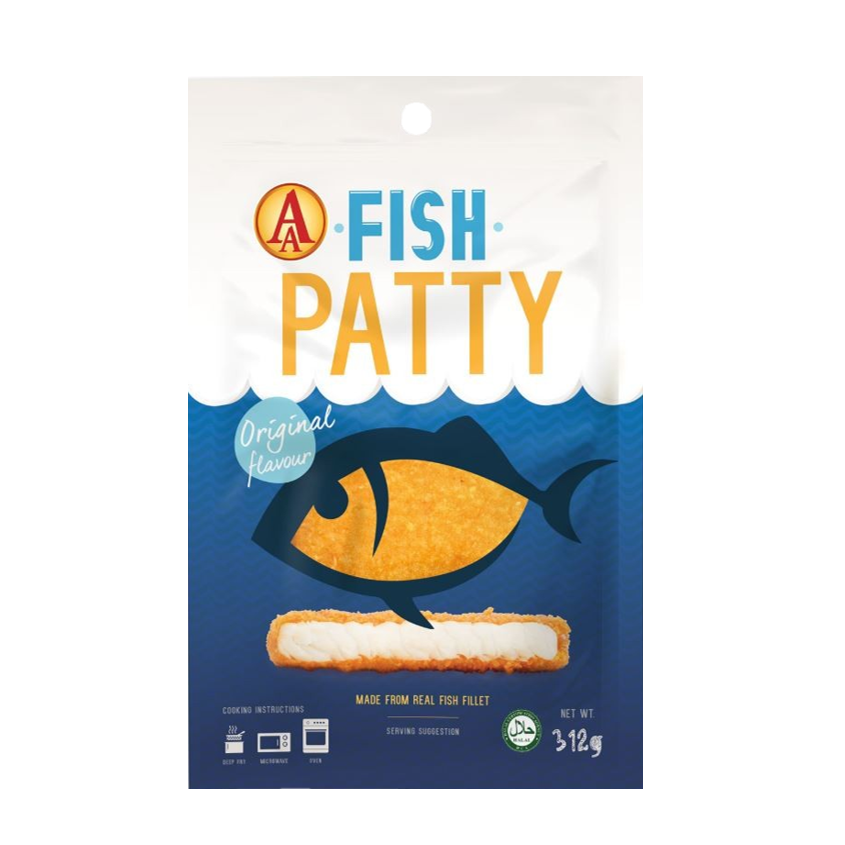 AA Fully Cooked Fish Patty 312gm/pkt (Halal) | SGFoodMart.com