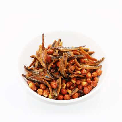 Fried Ikan Bilis with Peanut 1kg/pkt (Halal)