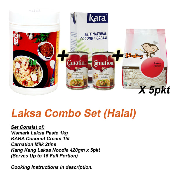 Vismark Laksa Combo Set 1set - Serves up to 15pax (Halal)