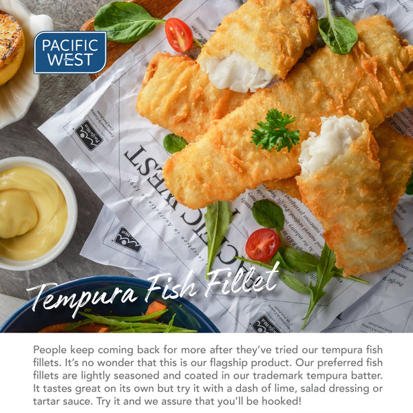 Pacific West Tempura Fish Fillet 1kg/pkt (Halal)