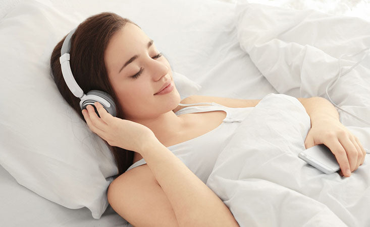 listening to music in bed